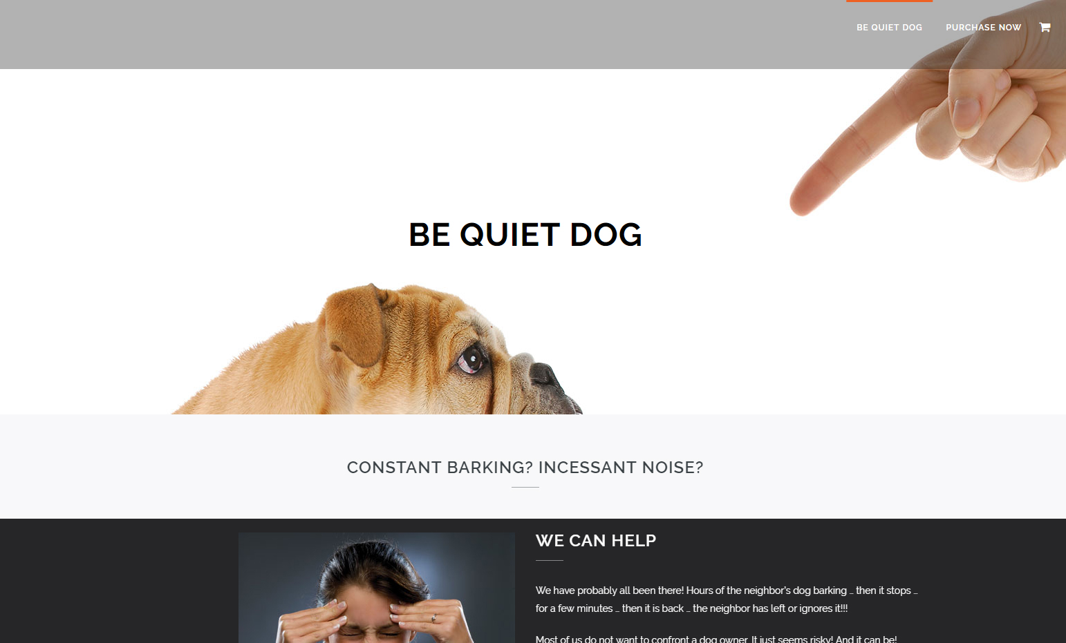 Cute dog looking up at scolding finger